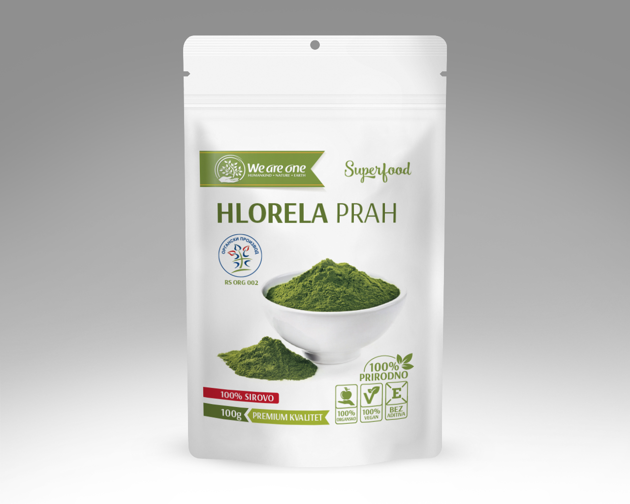 HLORELA PRAH ORGANIC, WE ARE ONE 100G